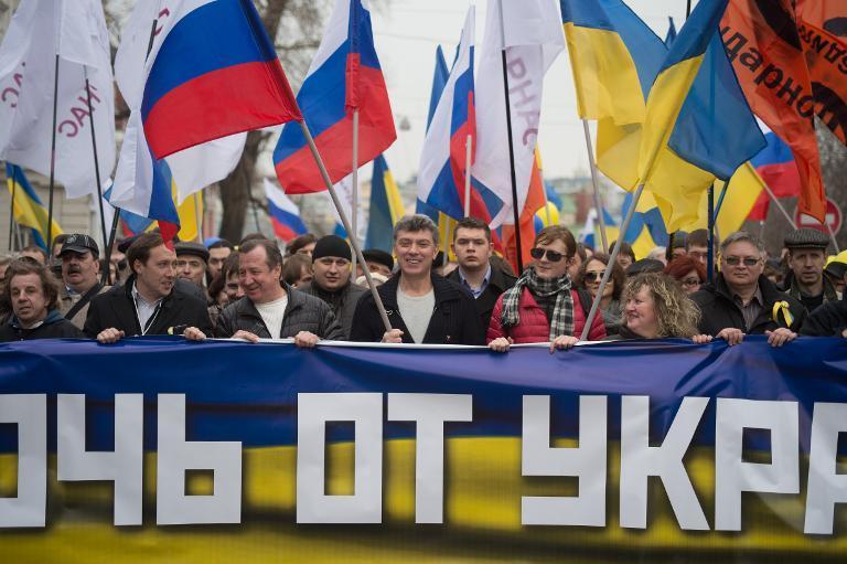 50 тысяч россиян вышли на «Марш мира и свободы» (Видео)