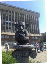 В Запорожье появился Путин