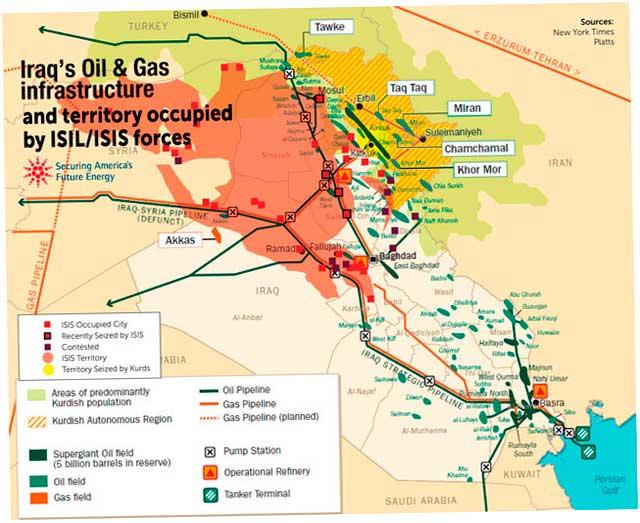 и захваченные ИГИЛ территории
