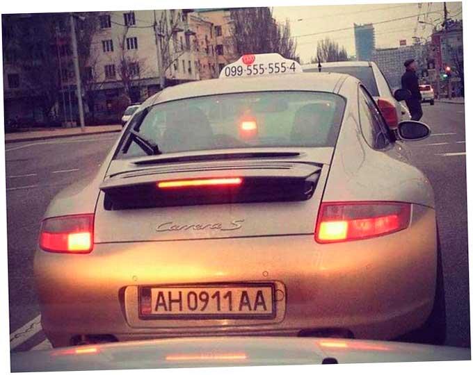 таксисты у них в Донецке на «Порше»