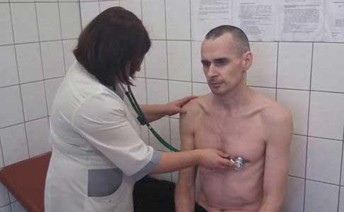 Фото Сенцова из больницы