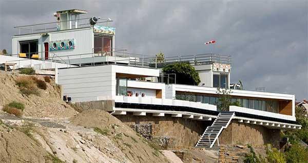 дом построен на склоне с нарушениями