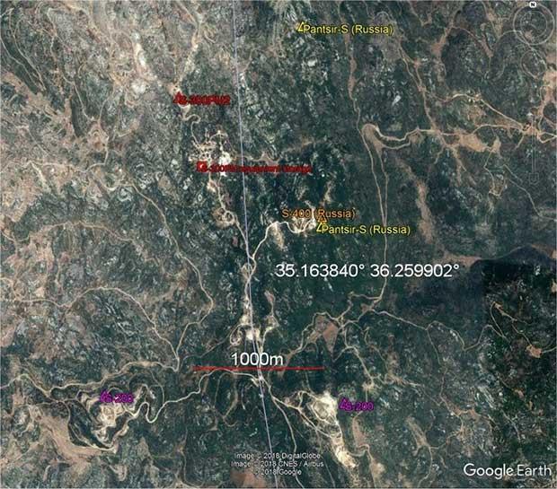 Ранее в этом районе были размещены сирийские зенитные комплексы С-200