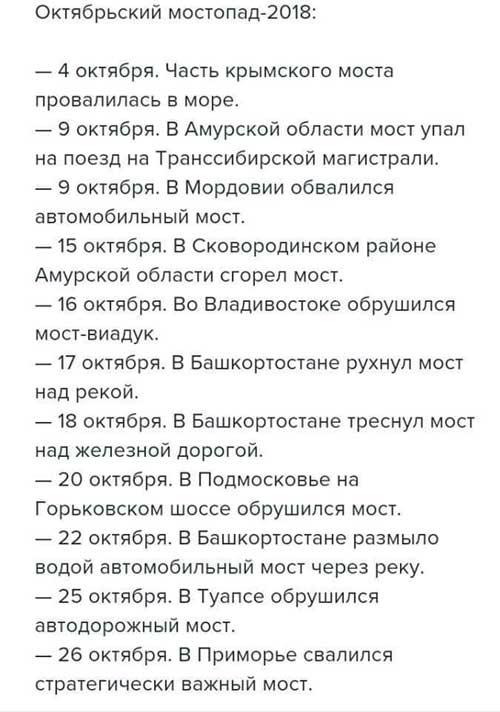 Октябрьский мостопад-2018